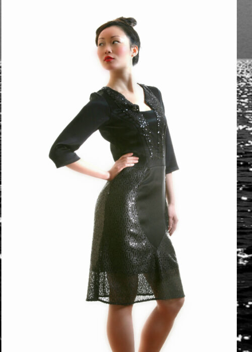 Black ocean dress 4