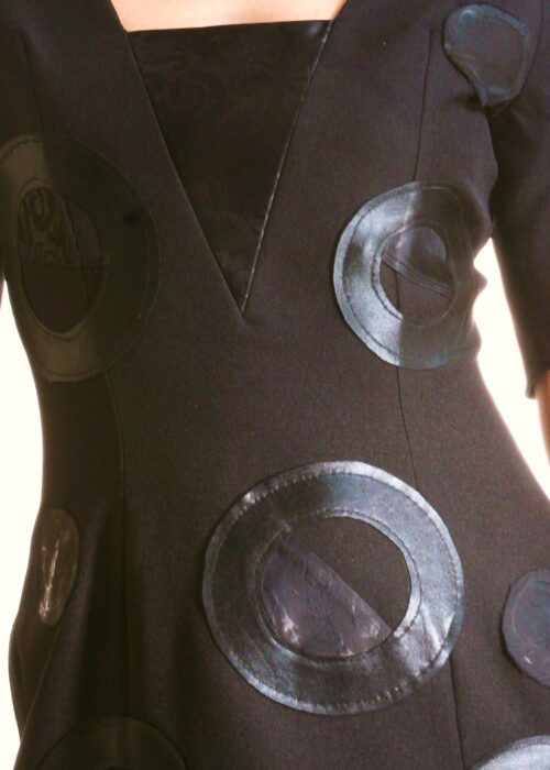 Black rings dress 024a