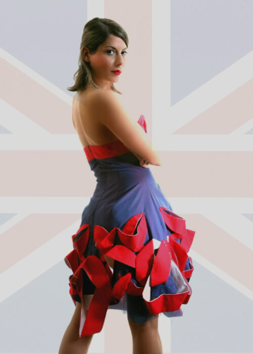 British leaves dress 2
