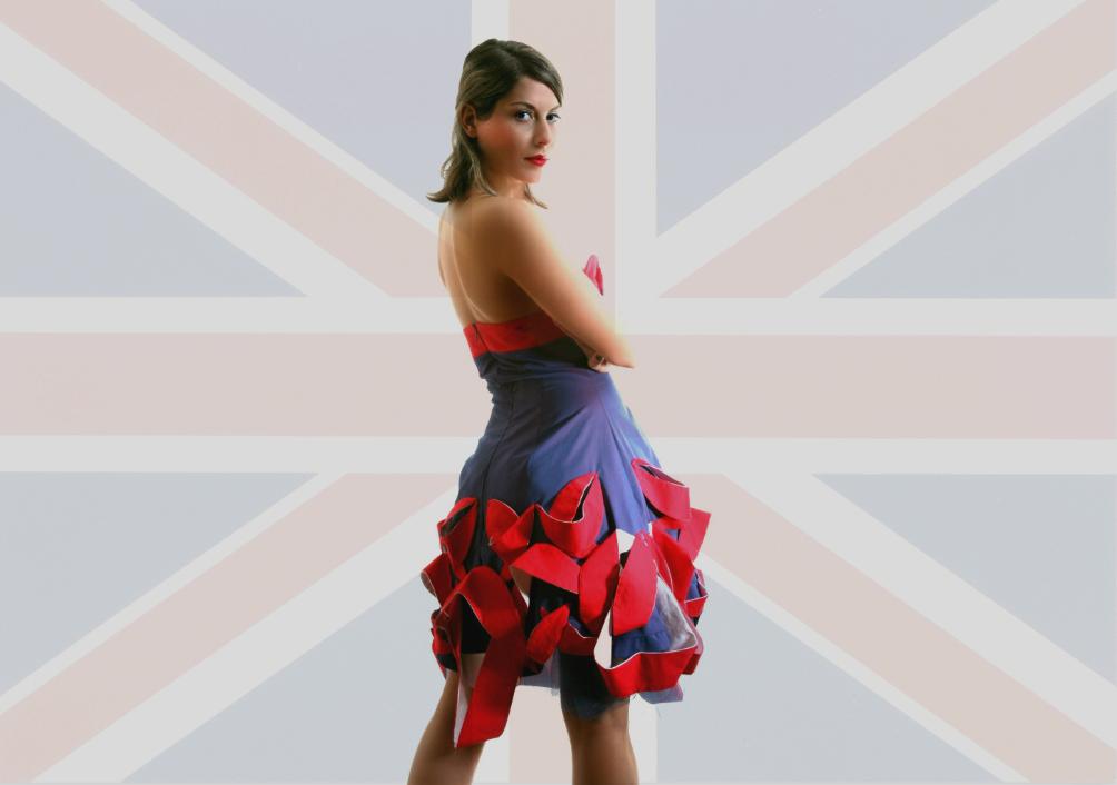 British leaves dress 2