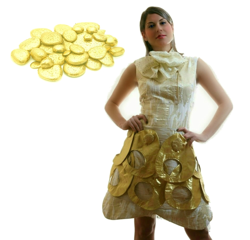 Golden dress 1